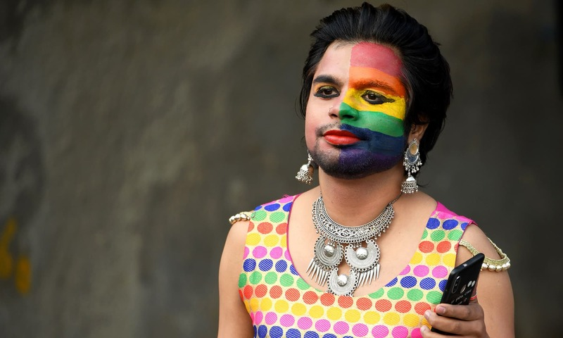 An Indian member of the lesbian, gay, bisexual, and transgender (LGBT) community takes part in a pride parade in New Delhi on November 25, 2018. —AFP
