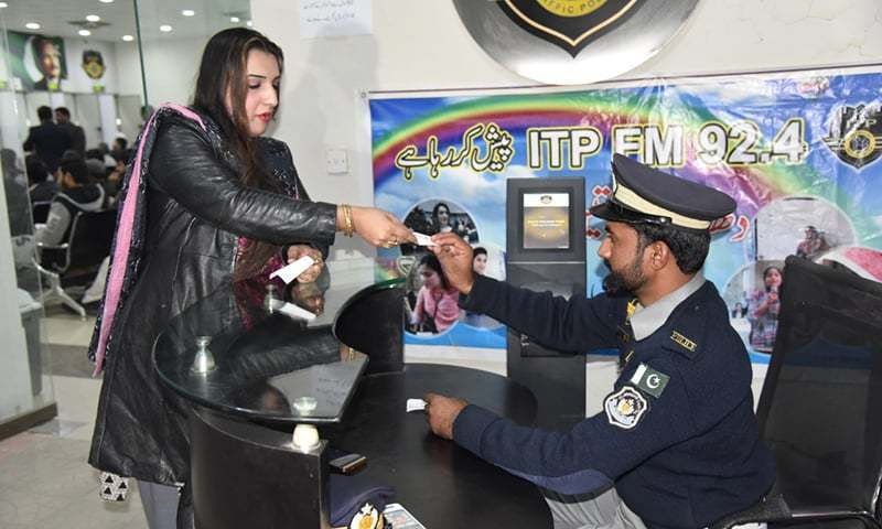 The Islamabad Traffic Police issued Ali Layla a driving licence after administering all practical driving tests. — Photo courtesy Islamabad police