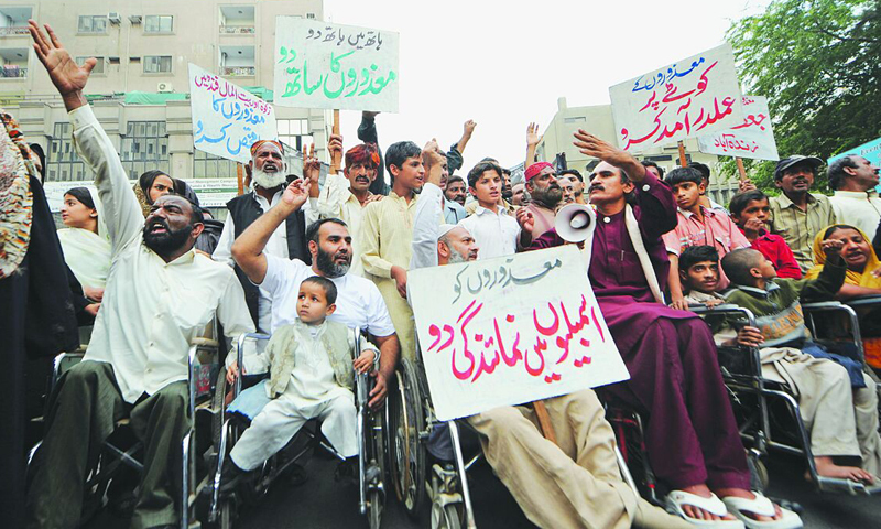 Punjab government increases job quota for people with disability from 2pc to 3pc. — APP/File