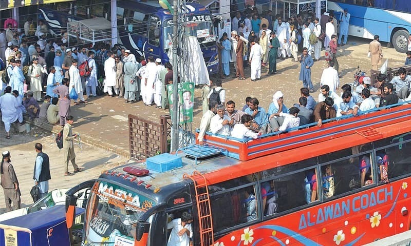 The Pirwadhai general bus stand has become a bone of contention between the Rawalpindi Municipal Corporation (RMC) and the Punjab government with the latter eying control of the lucrative property. — INP/File photo