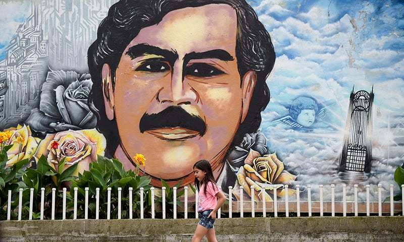 Picture taken at the Pablo Escobar neighbourhood in Medellin, Colombia. — AFP