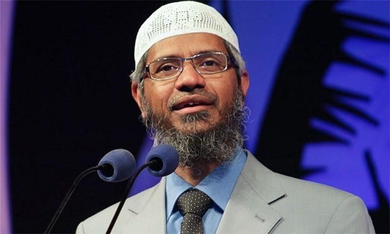Zakir Naik made a rare public speech in Malaysia, where he has sought refuge. — File