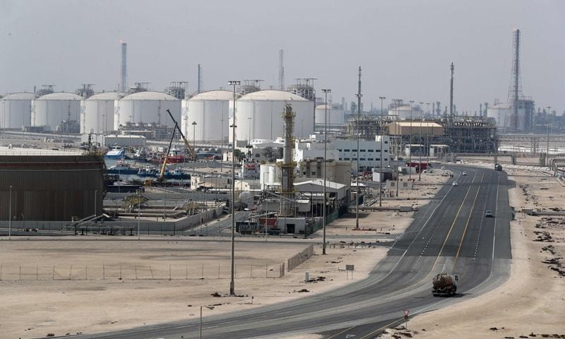 A file photo taken on Feb 6, 2017 shows the Ras Laffan Industrial City, Qatar's principal site for production of LNG and gas-to-liquid, administrated by Qatar Petroleum, some 80-km north of the capital Doha.—AFP