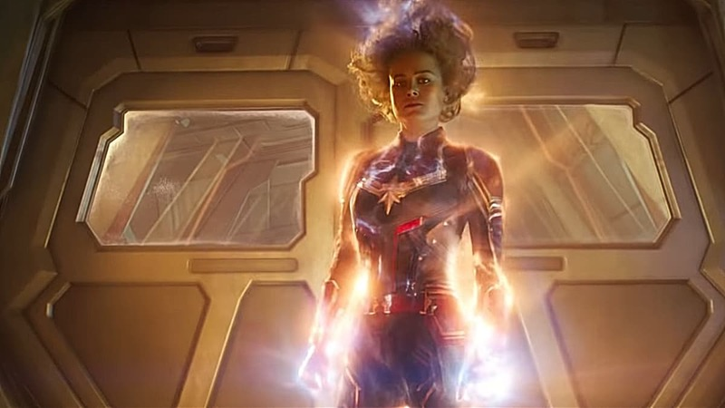 Captain Marvel takes her binary form