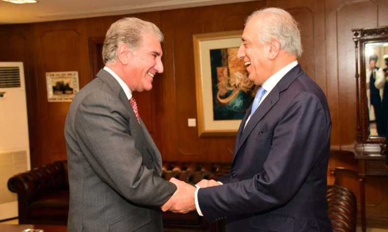 Zalmay Khalilzad calls on FM Shah Mahmood Qureshi and reiterates Trump's desire to seek Pakistan's cooperation for peace and stability in Afghanistan. —PID