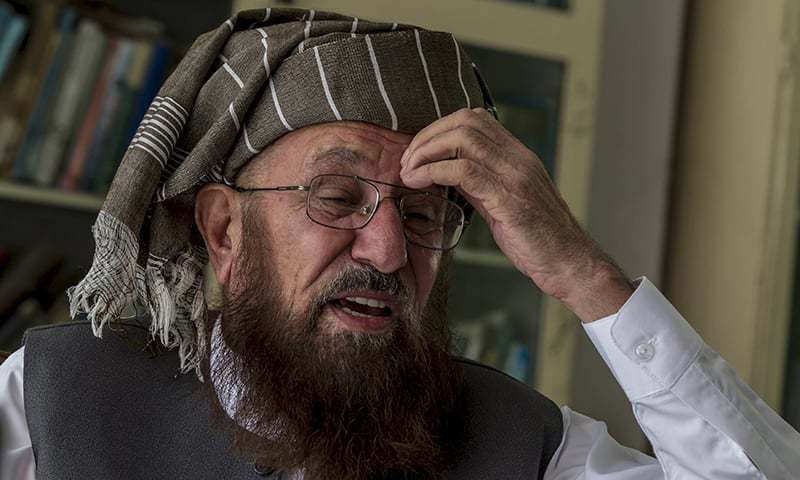 JUI-S chief Maulana Samiul Haq was murdered at his residence last month. — File photo