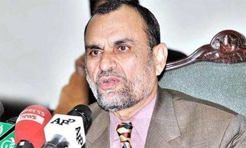 Senator Azam Swati, a member of the ruling Pakistan Tehreek-i-Insaf (PTI), was accused of playing a role in the transfer of former Islamabad Inspector General of Police Jan Mohammad. ─ File photo