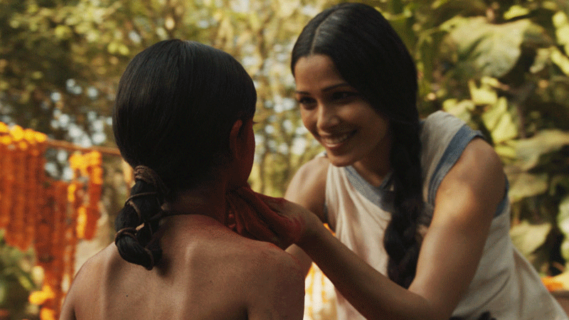 Pinto was eager to work in the film owing to her childhood memories associated with Mowgli, and called up the film's team for a role.