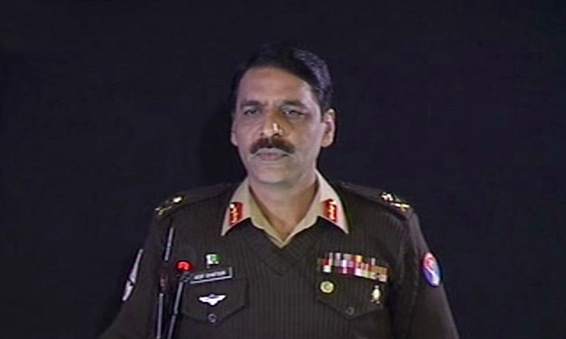 "Maj Gen Asif Ghafoor regrets that Kartarpur initiative was negatively presented in India, but hopes that India will ""positively respond to this goodwill gesture"". —DawnNewsTV screengrab"