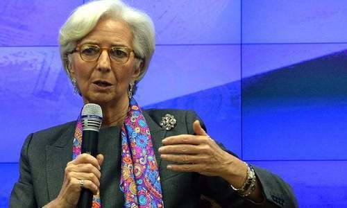 "IMF chief Christine Lagarde believes the US Federal Reserve is ""probably going to slow down"" its rate increases as they look at economic data. ─ AFP/File"