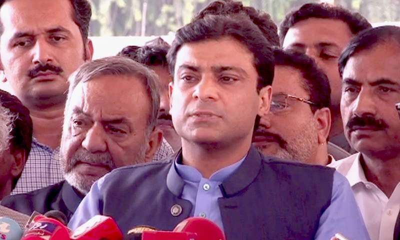 Leader of the Opposition in the Punjab Assembly Hamza Shahbaz points at 'double standards' in accountability process. ─ File photo