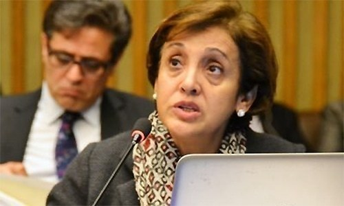 """Foreign Secretary Tehmina Janjua says relations with India are not improving because New Delhi is """"spinning hatred"""". — File photo"""