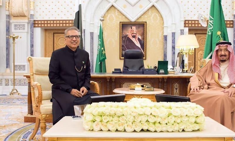 President Dr Arif Alvi met Saudi King Salman bin Abdulaziz in Riyadh and discussed issues of mutual interests. —PID