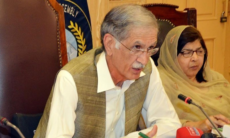 Defence Minister Pervez Khattak says a total of 717 terrorism cases to military courts since Zarb-i-Azb. — File photo