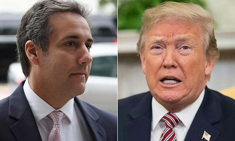 Cohen says Trump knew payments were wrong