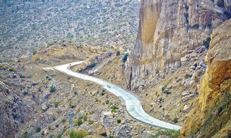 The Gwadar-Hoshab-Surab road road is neither part of the western route nor is it a CPEC project at all. — File photo