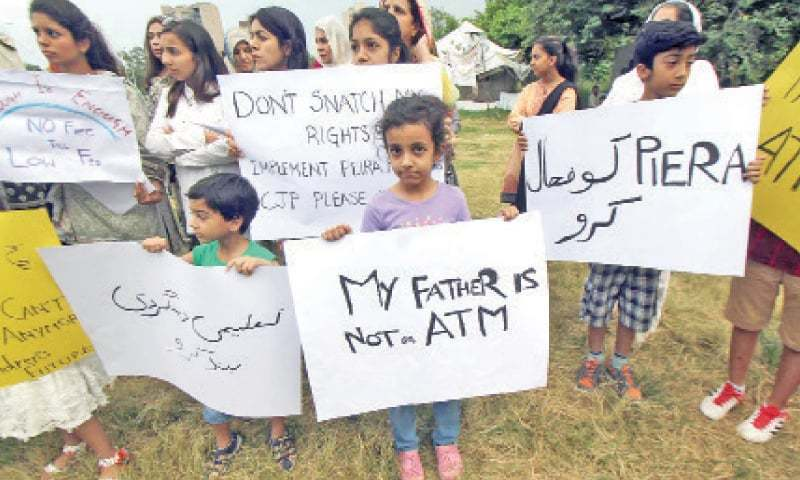 A file photo of children protesting against exorbitant school fees. — Online