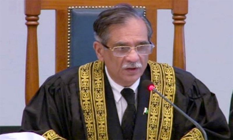 Justice Nisar warns Khokhar brothers of strict action if it is proved that they grabbed land of widows and overseas Pakistanis. — File