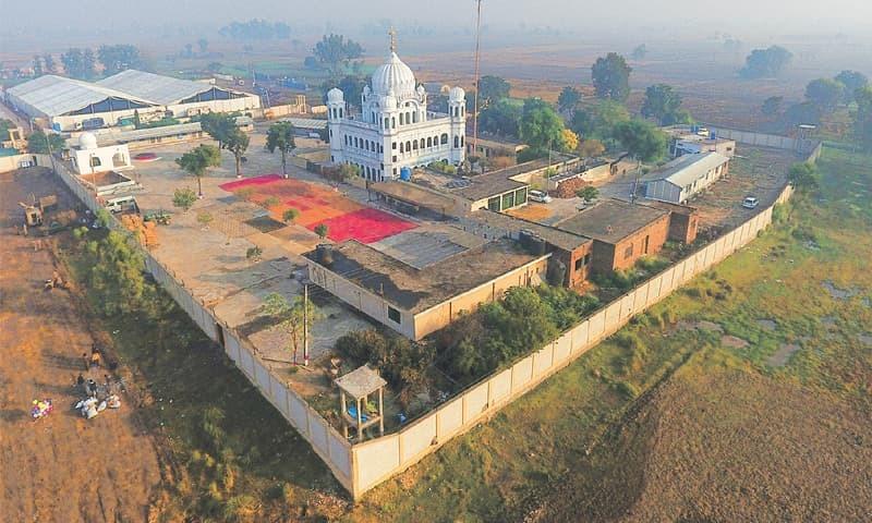 An aerial view of Kartarpur Gurdwara    Aun Jafri White Star