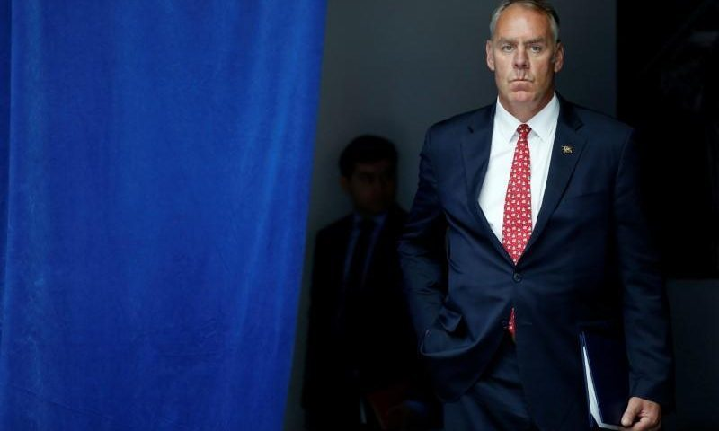 Interior Secretary Ryan Zinke Stepping Down