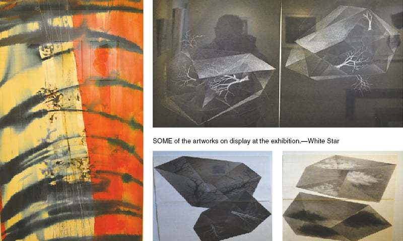 Some of the artworks on display at the exhibition.—White Star
