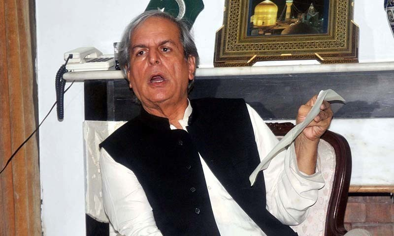 Senior politician Javed Hashmi says NAB's purpose is to make politicians change their political loyalties. — File photo