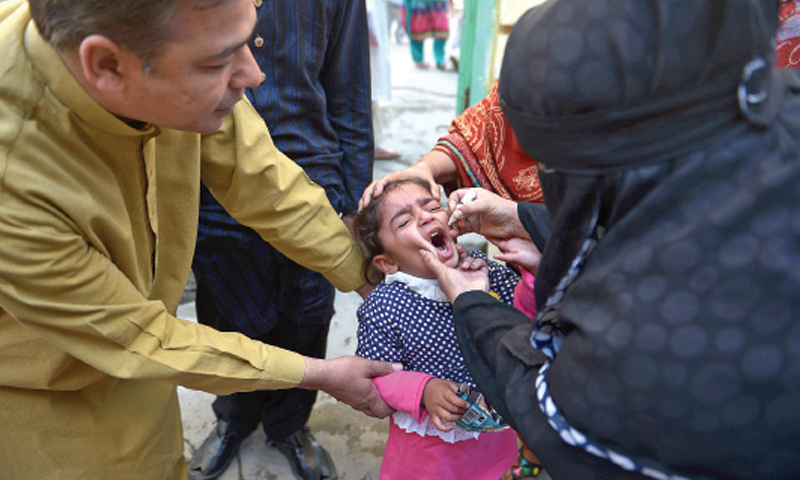 260,000 frontline workers participated in anti-polio drive. — File photo
