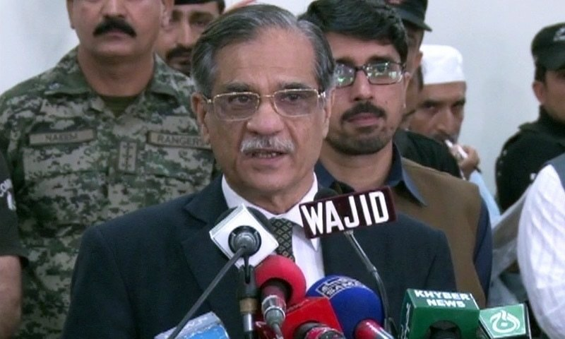 Chief Justice Mian Saqib Nisar. — DawnNewsTV/File