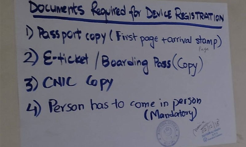 Documentary and other requirements specified at the Karachi Customs House.
