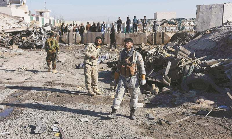 Reports say suicide attack was carried out at a house in Aino Maina area, an upscale locality of Kandahar. — File photo