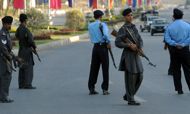 Policemen were performing patrolling duties in Sector I-8/3 when unidentified suspects opened fire at them. — AFP/File photo