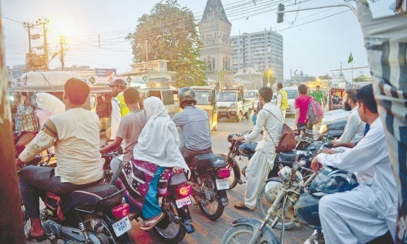 "Pillion riding ban is applicable from the ""evening of December 31, 2018, till the morning of January 1, 2019"". —Dawn Archives"