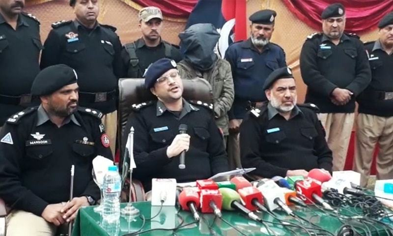 Deputy Inspector General Mardan Muhammad Ali Khan while announcing the prime suspect's arrest today said that the 21-year-old man had been arrested after his DNA sample was found to be a match. ─ Photo by author