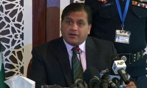 "Dr Mohammad Faisal calls ceasefire violations by Indian side as ""a threat to regional peace and security"". — File photo"