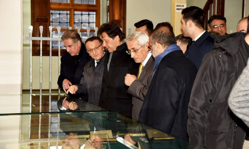 PM Imran Khan and his delegation visited the mausoleum of great Sufi saint Maulana Jalaluddin Rumi. The premier laid floral wreath on Rumi's grave and offered <em>fateha</em>. —PID
