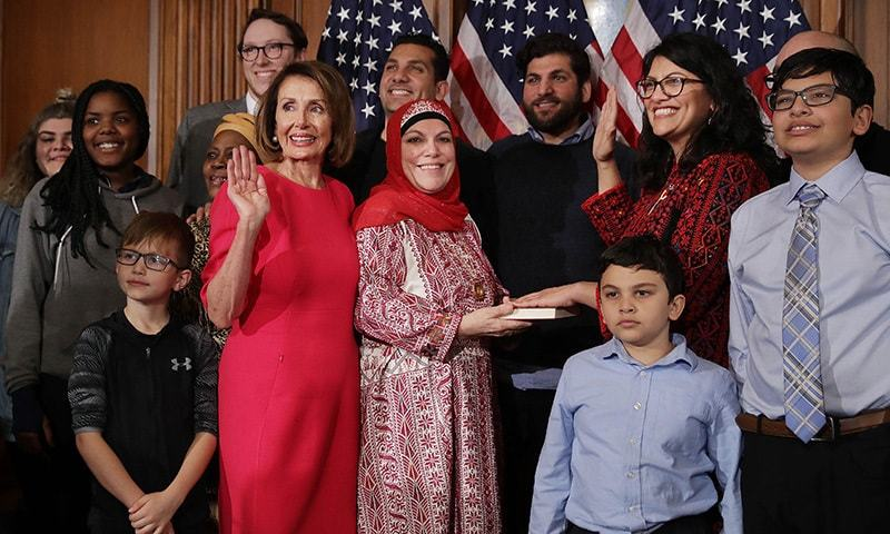 first muslim women elected to us congress take oath on holy quran - world