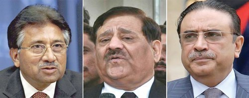 SC disposes of petition against former president retired Gen Pervez Musharraf, former attorney general Malik Mohammad Qayyum, and former president Asif Ali Zardari.
