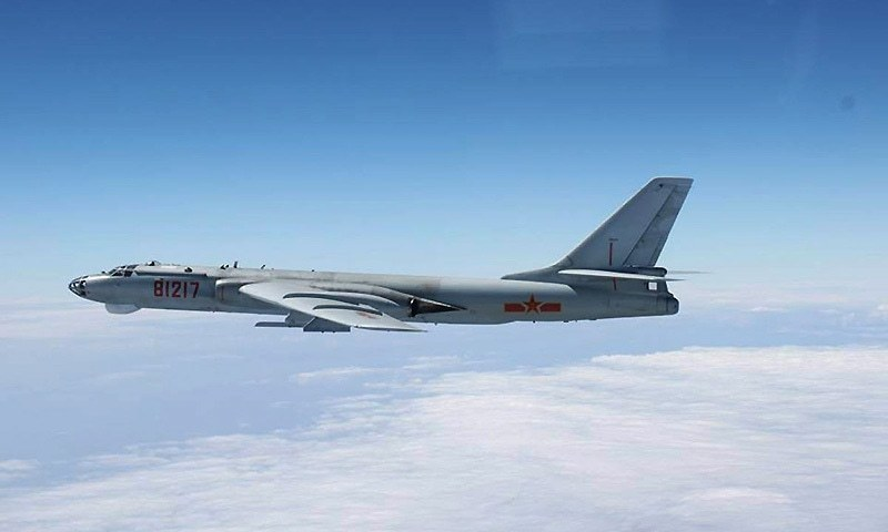The bomb was dropped by a Chinese H-6K bomber. — Reuters/ File photo