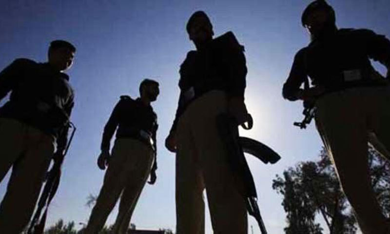 The four were wearing police badges and presented themselves as SHO Darakshan and his staff. —Dawn archives