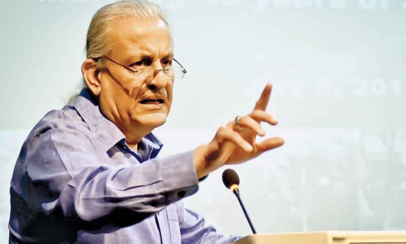 Raza Rabbani says hospitals' management matter should be heard by all judges of apex court instead of five-member bench. — File photo