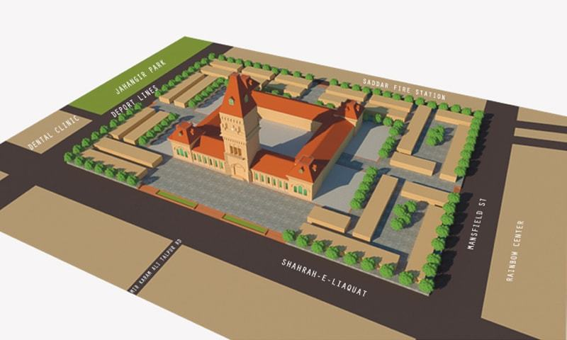 Aerial view of Empress Market proposed plan | Courtesy Arif Hasan