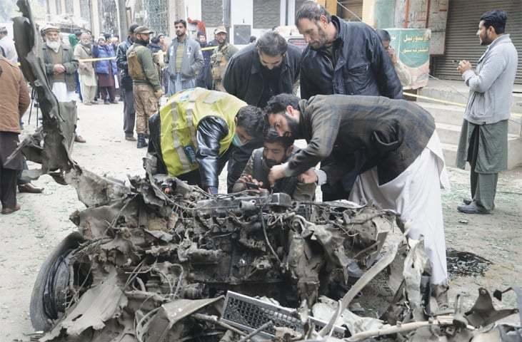 six injured in peshawar bomb attack - pakistan