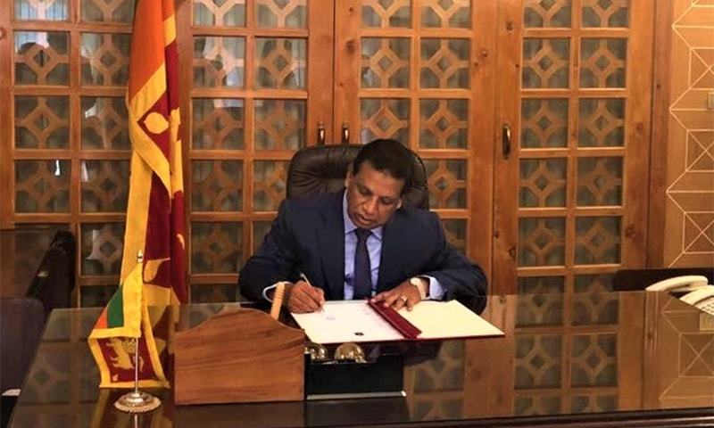 High Commissioner of Sri Lanka to Pakistan Noordeen Mohamed Shaheid. ─ Photo courtesy Sri Lankan Ministry of Foreign Affairs