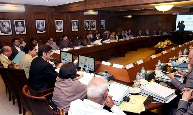 Chief Minister Murad Shah chairs a meeting of the cabinet. ─ Photo courtesy CM House Sindh Twitter