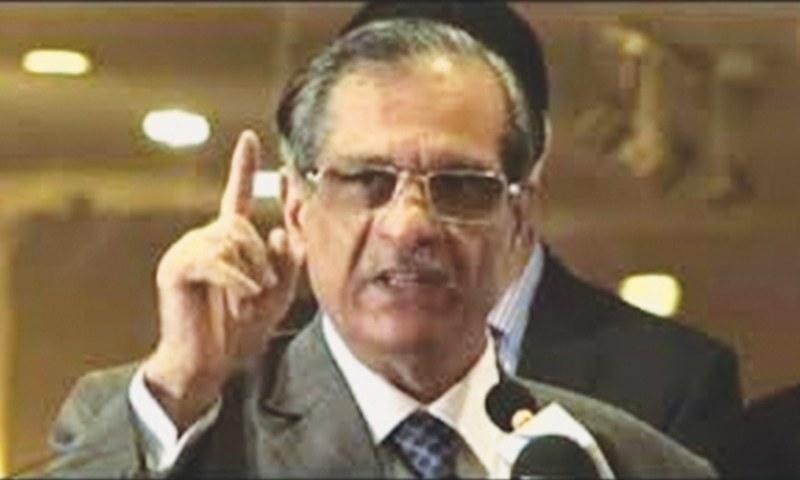 CJP Mian Saqib Nisar tells NAB and CDA to address the land issue. — File photo