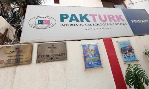 There are 28 Pak-Turk schools in different cities and were previously linked to Fethullah Gulen's organisation. — File photo