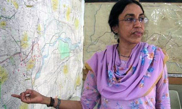 Perween Rahman, head of the Orangi Pilot Project, was gunned down near her office in Orangi Town on March 13, 2013. ─ File photo