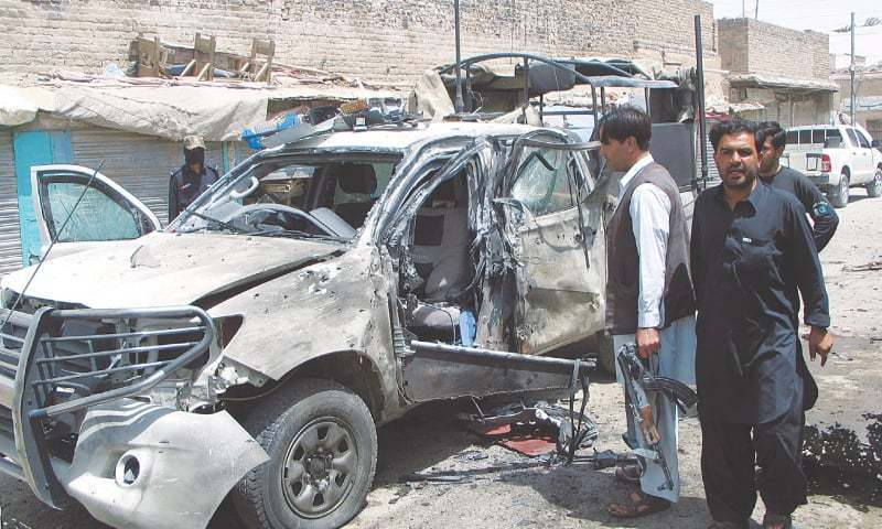 Car ran over the IED in the Olai Shah area of Ambar, say officials. — File photo
