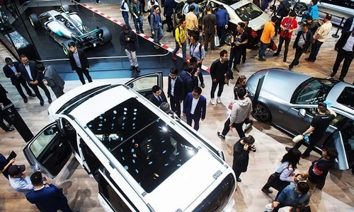 This general view shows the Mercedes car stand during the Beijing Auto Show in Beijing on April 25, 2018. — AFP/File photo