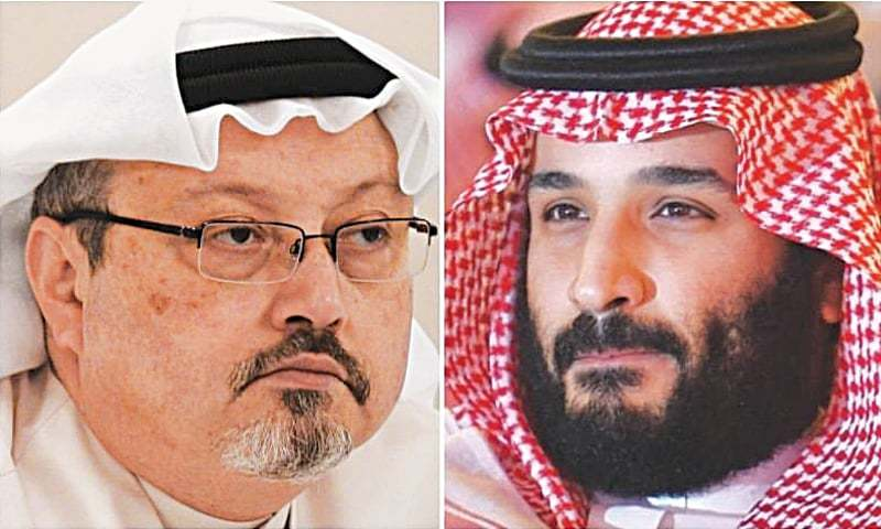 Jamal Khashoggi (left) and Mohammad bin Salman together made headlines around the world but had a radically different fate in the end.